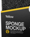 Sponge Mockup - Half Side View