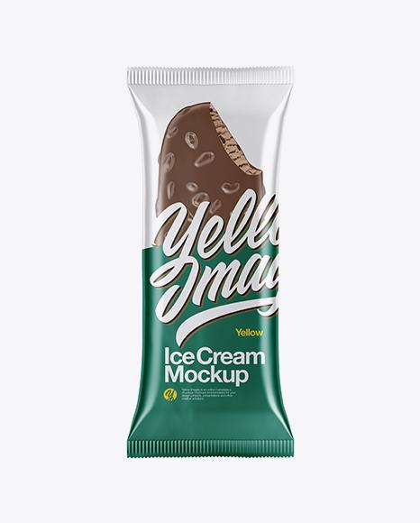 Ice Cream Bar with Nuts Mockup