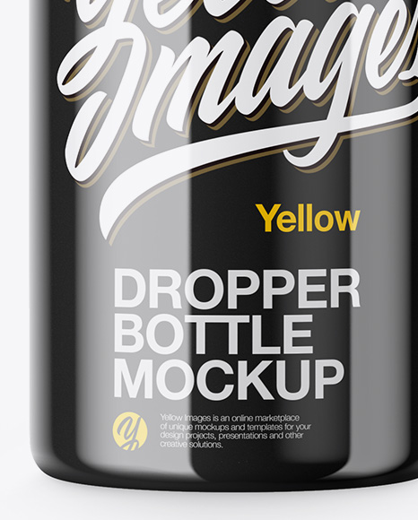 Glossy Bottle With Dropper Mockup