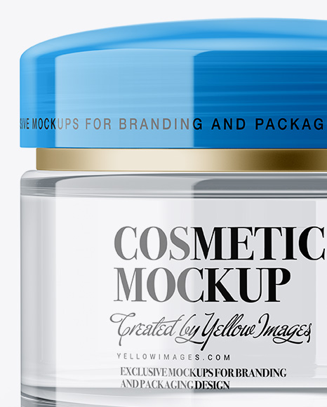 Clear Cosmetic Jar Mockup