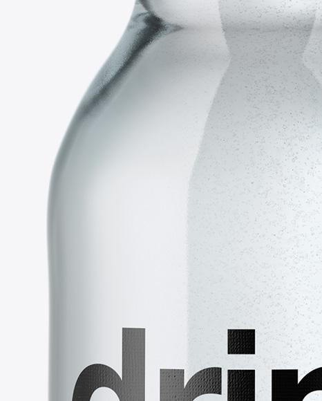 330ml Clear Glass Water Bottle Mockup