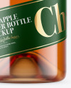 Clear Bottle With Cider Mockup