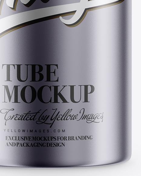 Metallic Tube Mockup