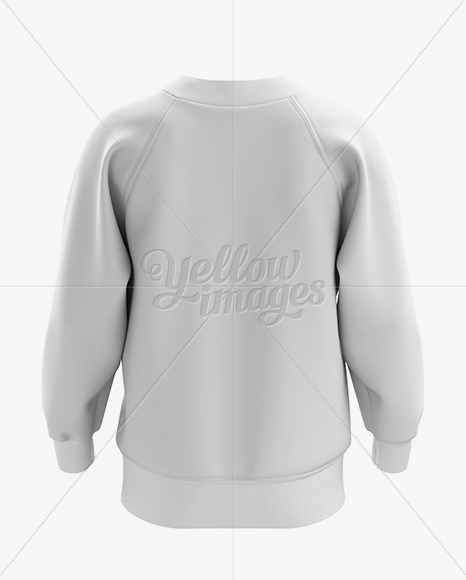 V-Neck Sweatshirt Mockup  - Back View