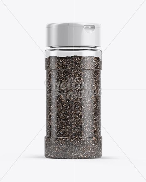 Black Pepper Jar Mockup