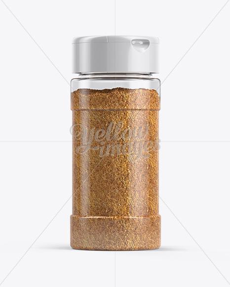 Yellow Spice Jar Mockup
