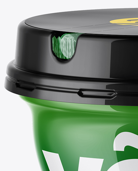 Download Glossy Yogurt Cup Mockup High Angle Shot PSD - Free PSD Mockup Templates