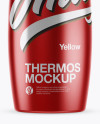 1L Matte Metallic Thermos Mockup
