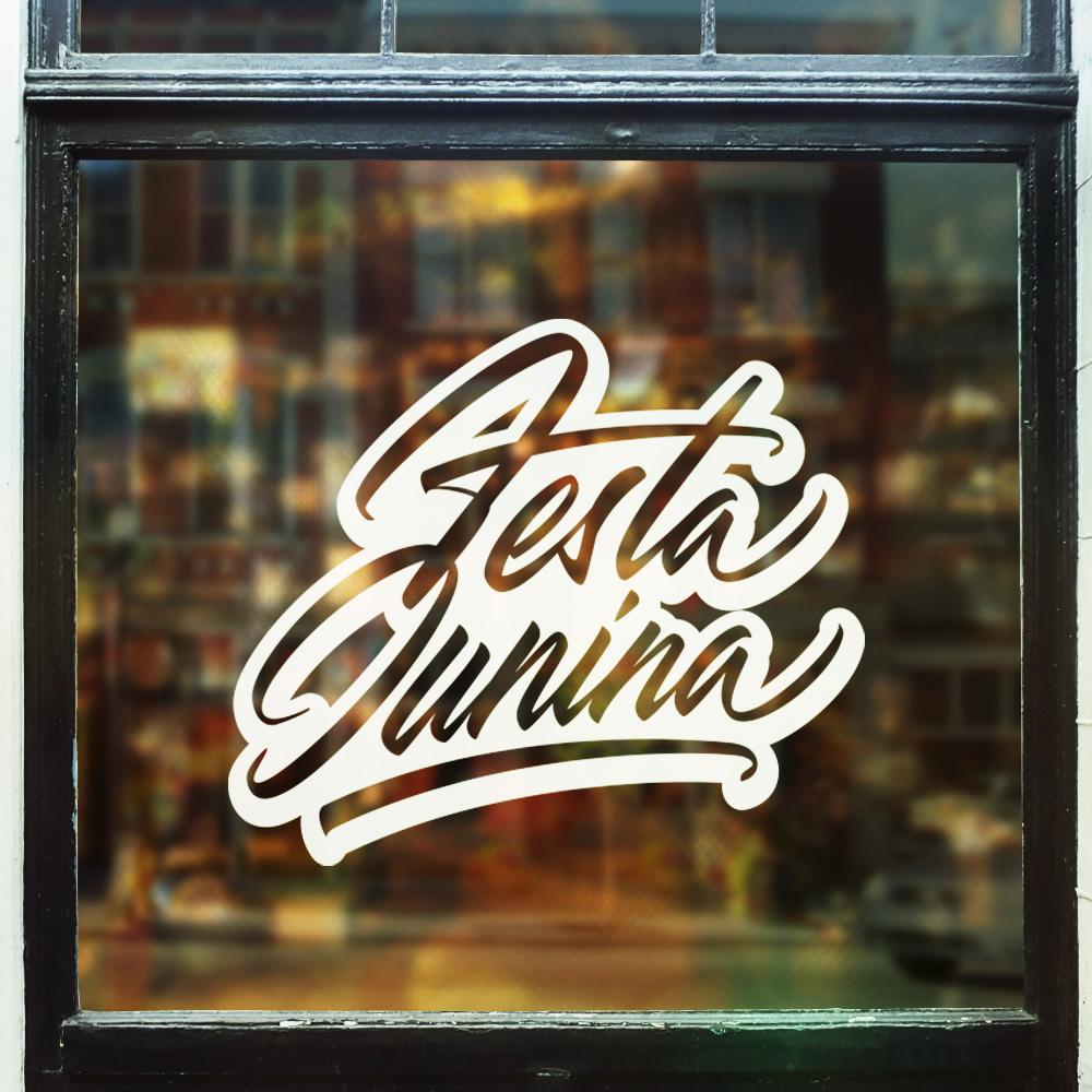 Festa Junina vector brush lettering