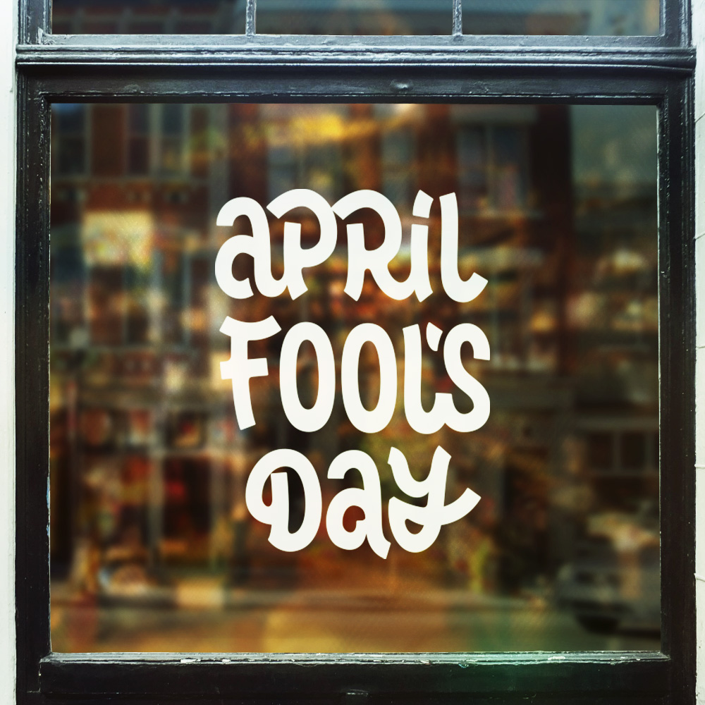 April Fool's Day Vector Lettering