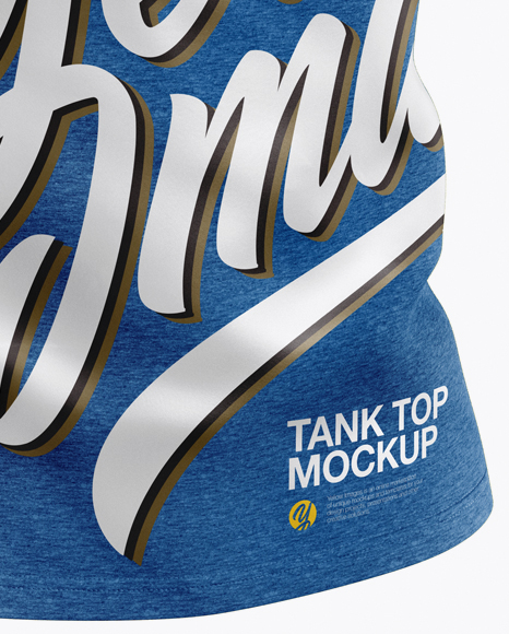 Melange Tank Top Mockup - Half Side View