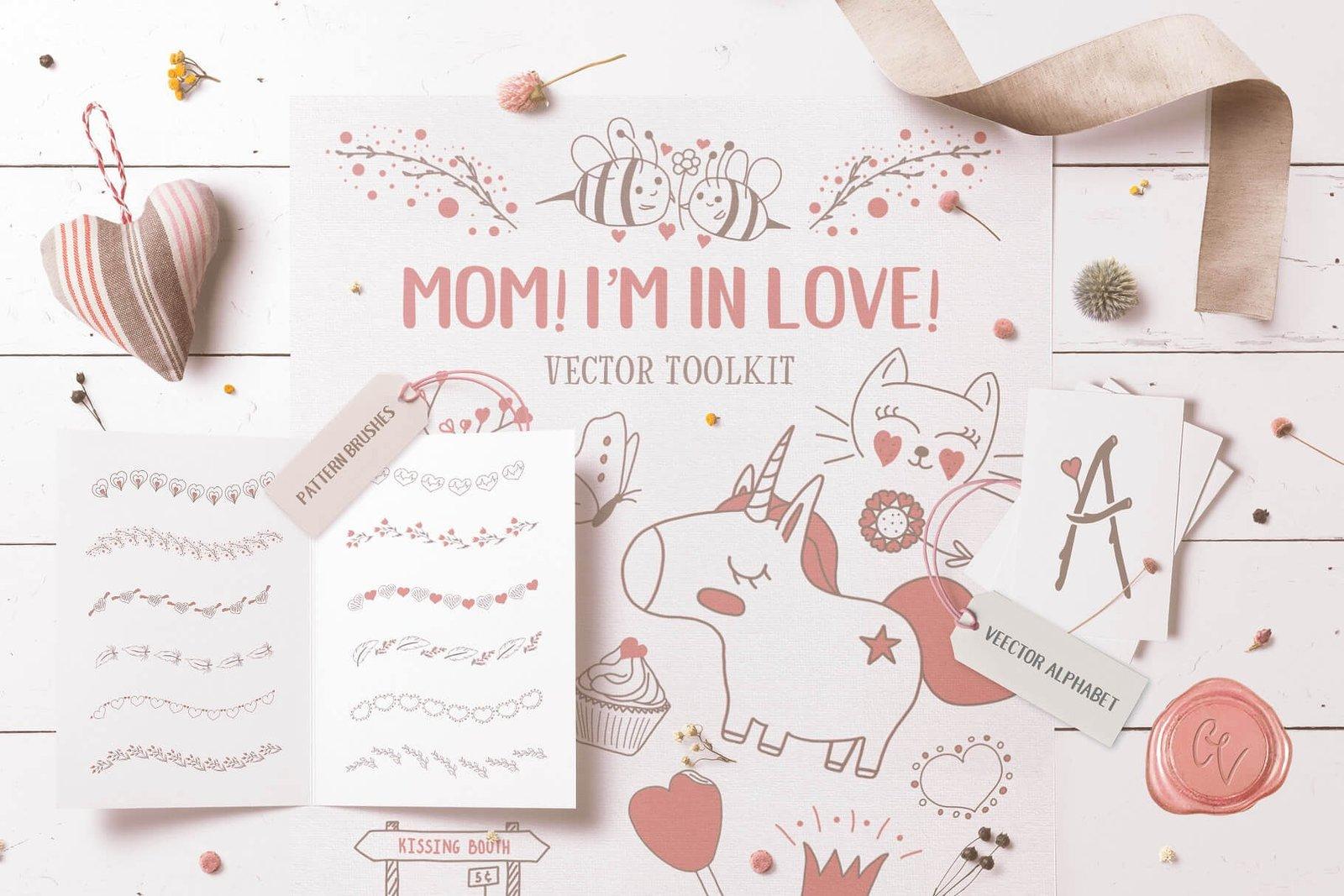 Mom! I'm in Love! Vector Set