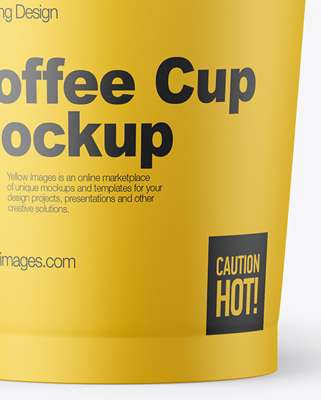 Download Reusable Coffee Cup Mockup In Cup Bowl Mockups On Yellow Images Object Mockups PSD Mockup Templates
