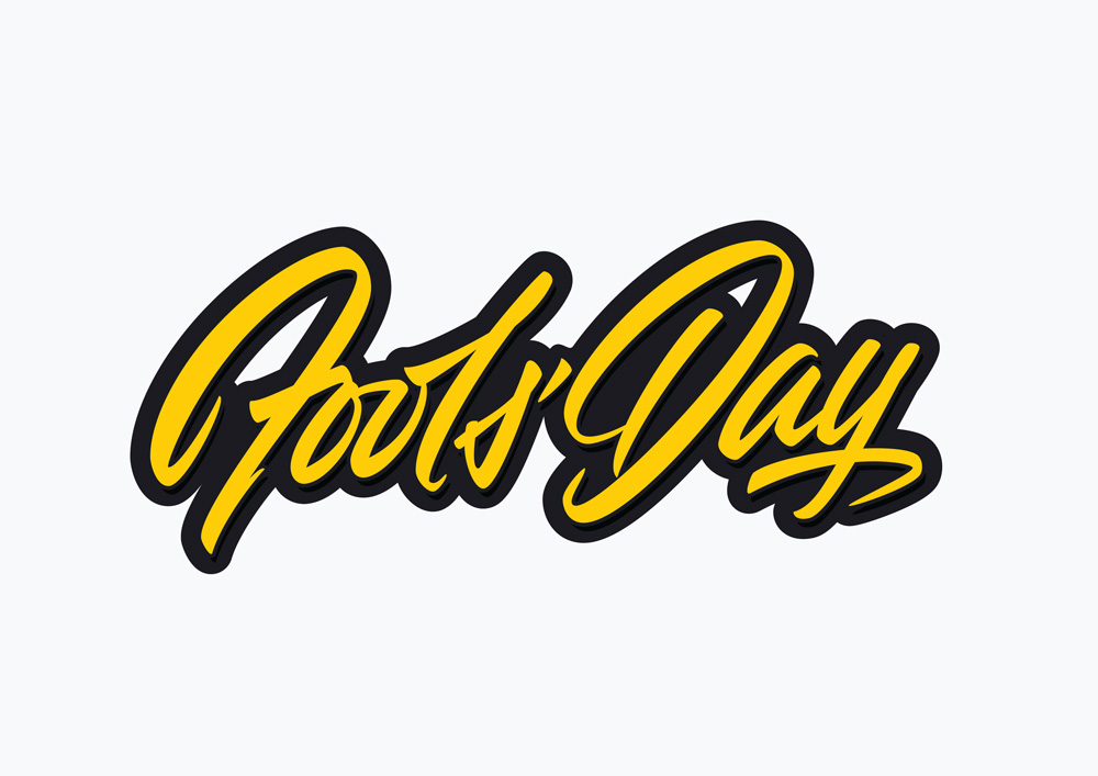 Fool's Day Lettering