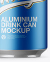 Pack with 4 Matte Metallic Aluminium Cans with Plastic Holder Mockup