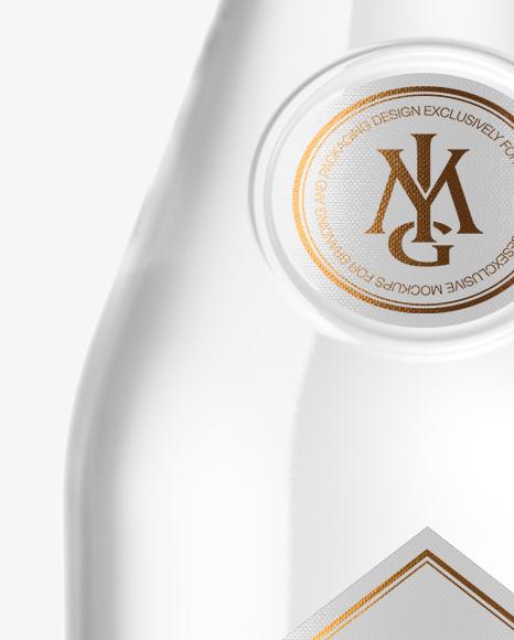 Vodka Bottle with Wooden Cap Mockup
