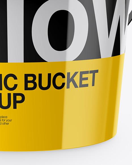 Download Glossy Paint Bucket Mockup High Angle Shot PSD - Free PSD Mockup Templates