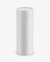 Matte Paper Tube Mockup - Front View (High-Angle Shot)