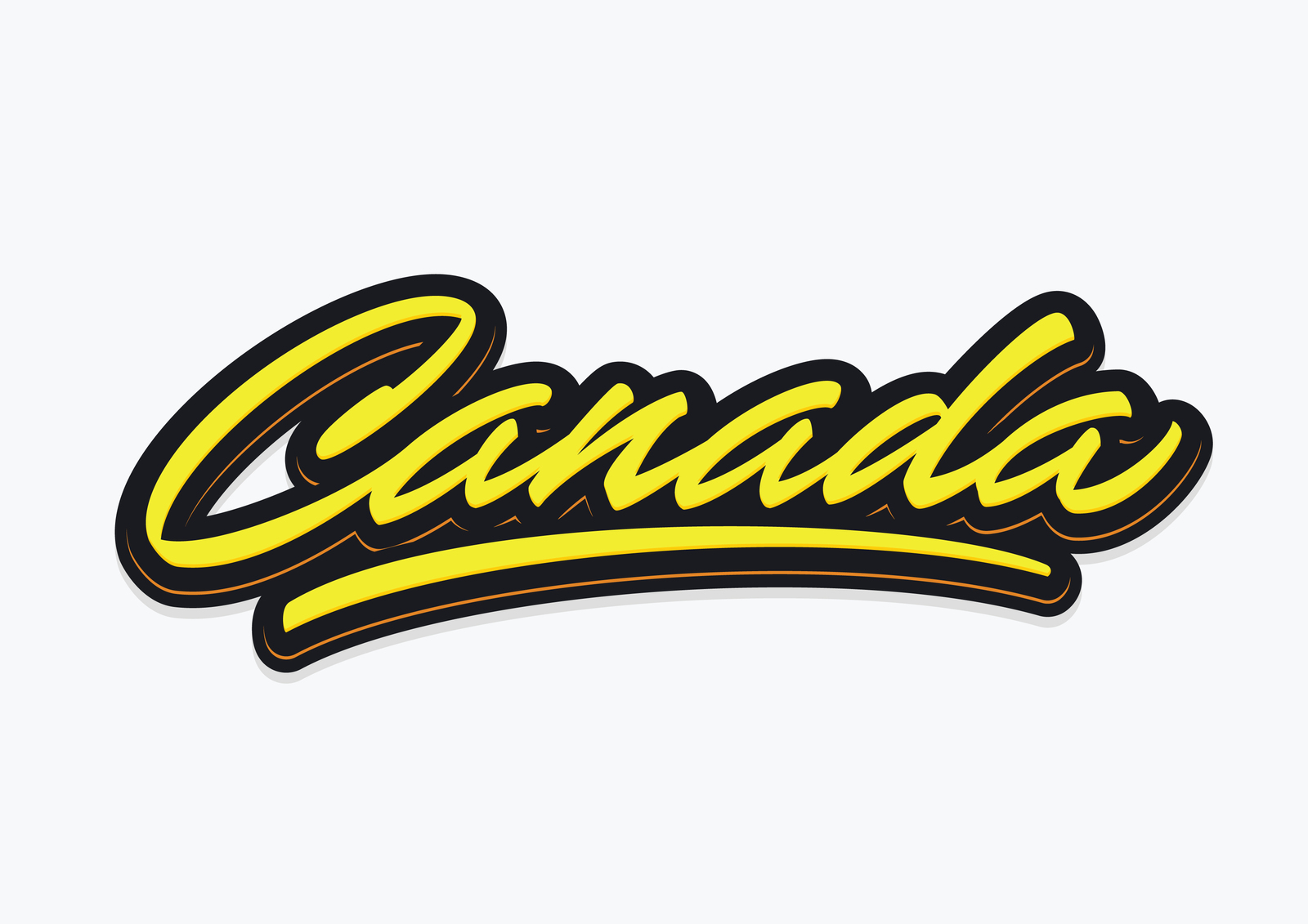Canada brush sccript vector lettering