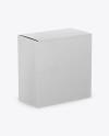 Kraft Paper Box Mockup - Half Side View (High-Angle Shot)