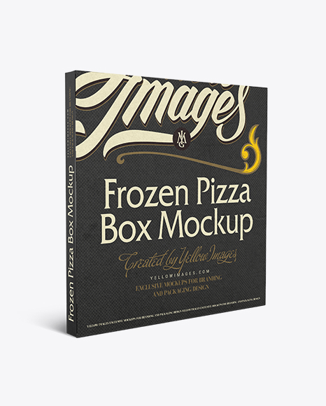 Download Frozen Pizza Box Mockup In Box Mockups On Yellow Images Object Mockups Yellowimages Mockups