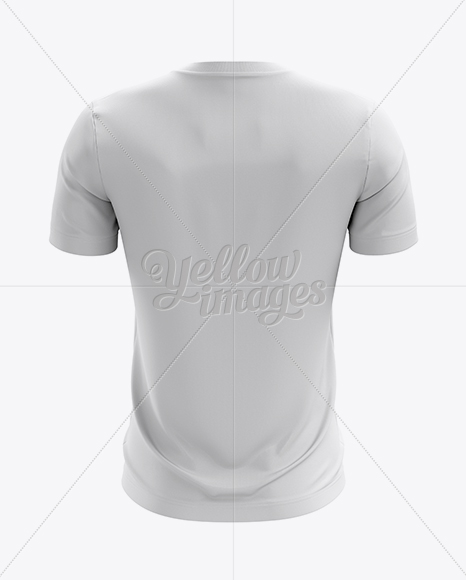 Lace-Up Soccer T-Shirt Mockup - Back View