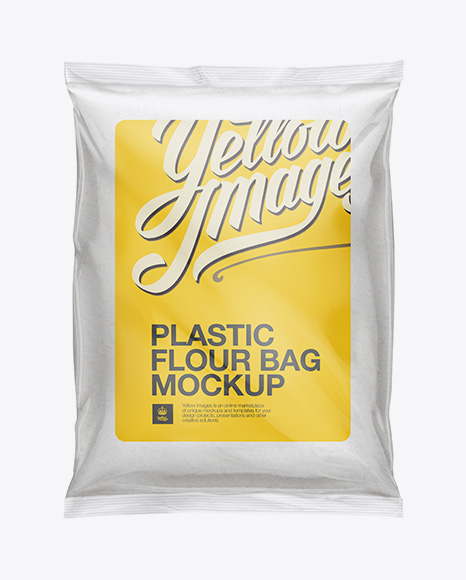 Plastic Bag with Flour Mockup