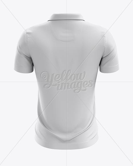 Soccer Polo T-Shirt Mockup - Back View