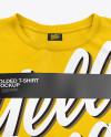 Stack of Folded T-Shirts Mockup - High-Angle Shot