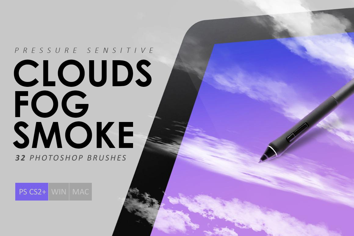 Clouds, Fog, Smoke Photoshop Brushes