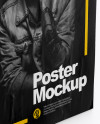 A1 Poster Mockup - Half Side View