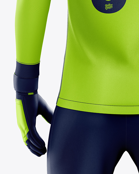 Men's Full Soccer Goalkeeper Kit with Pants mockup (Back View)