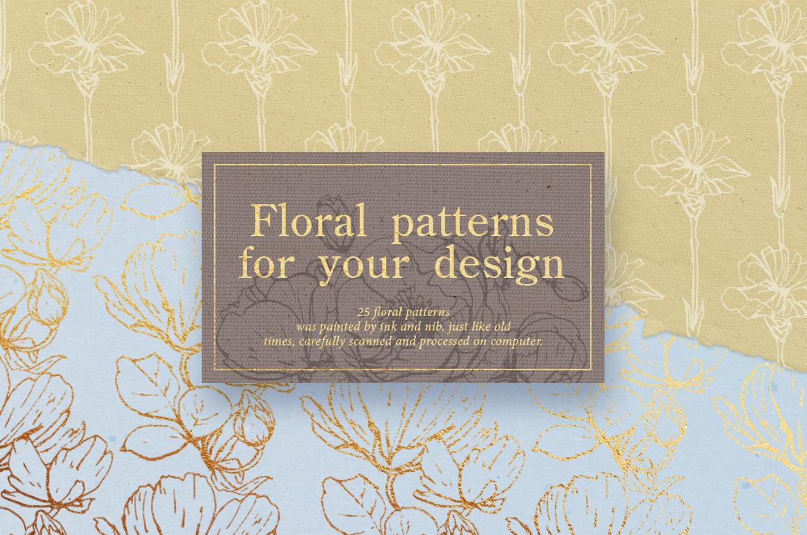 Flower outlines & patterns