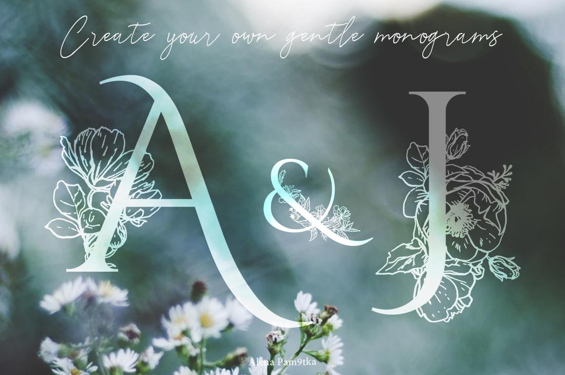 Floral alphabet/monograms