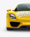 Porsche 918 Spyder Mockup - Front view