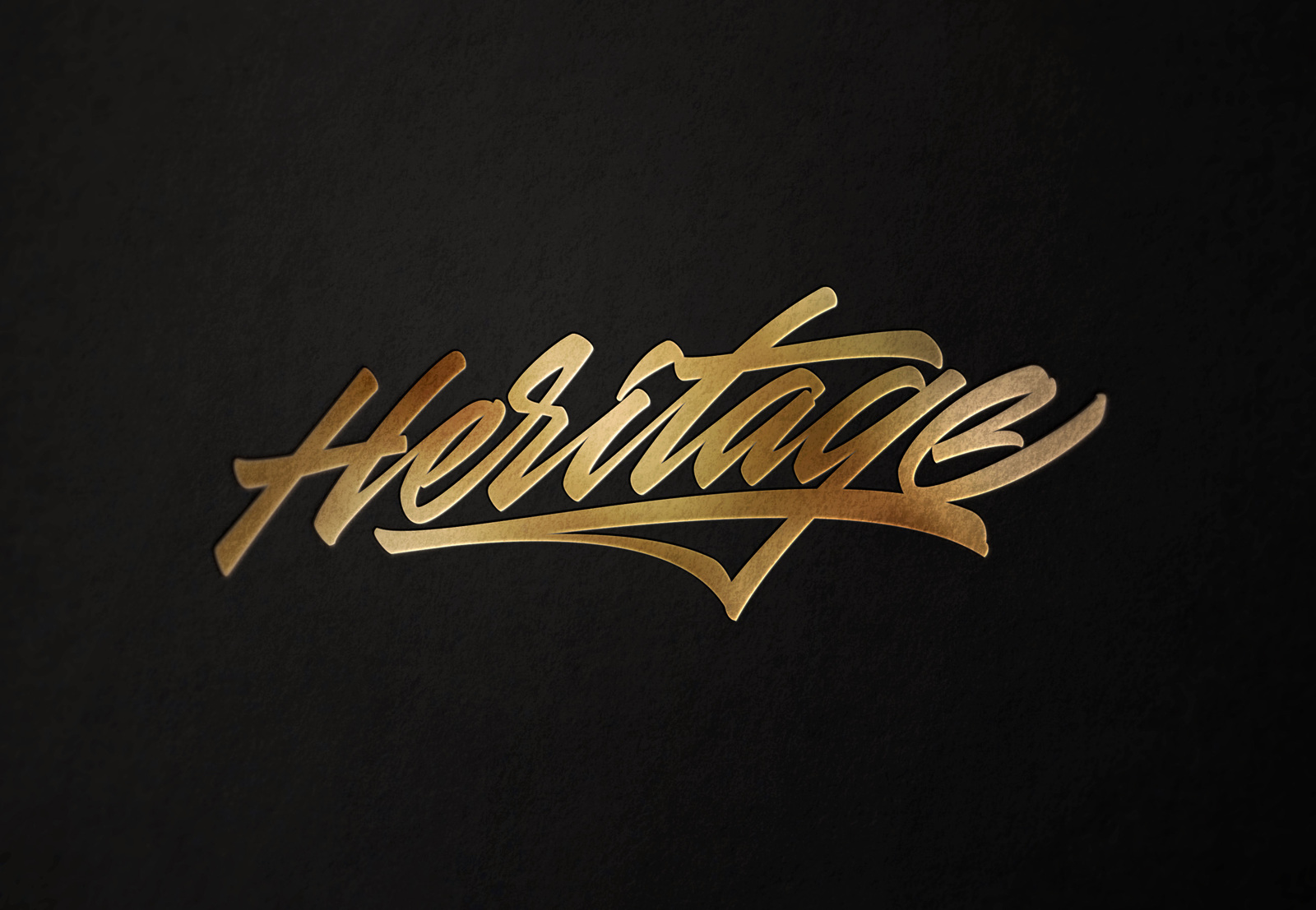 Heritage hand made calligraphic lettering-logotype in original style