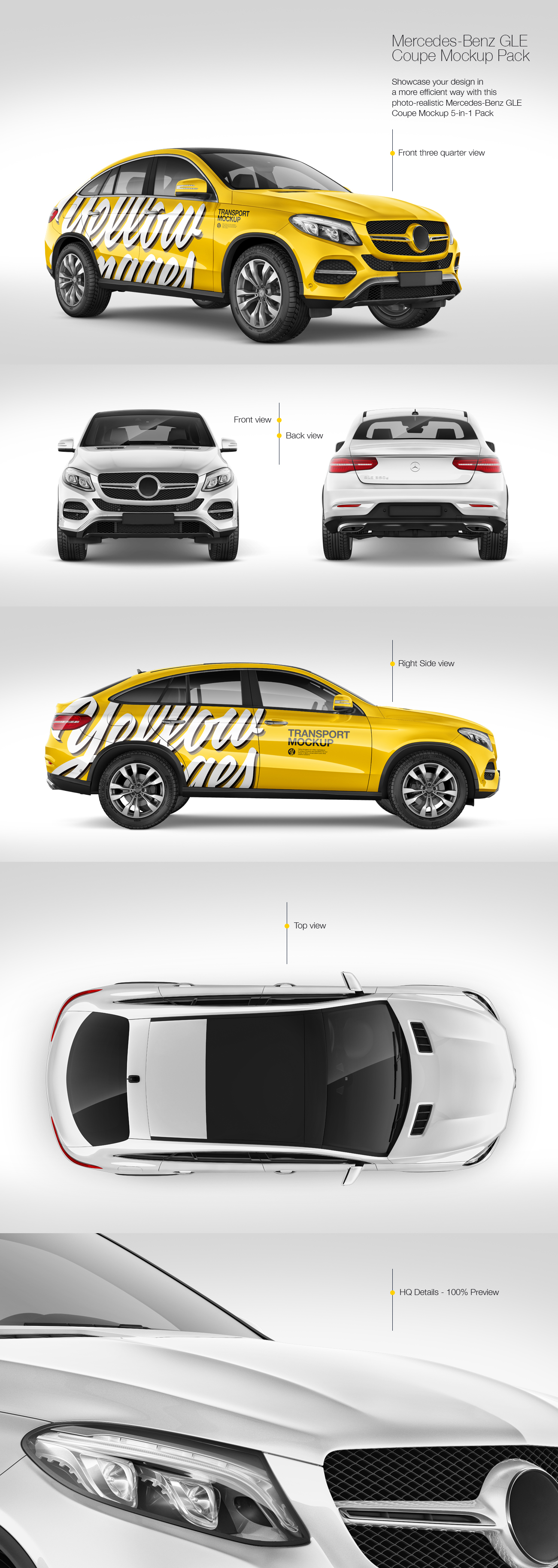 Mercedes-Benz GLE Coupe 2016 Mockup Pack