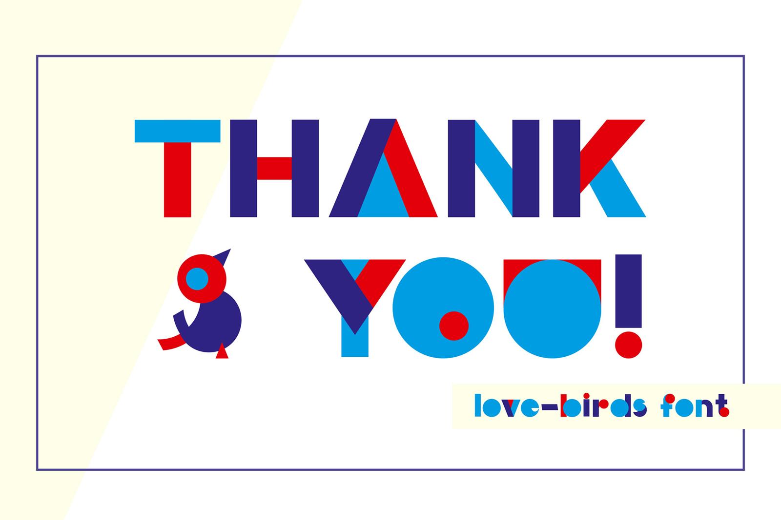 LOVE BIRDS Multicolor Font