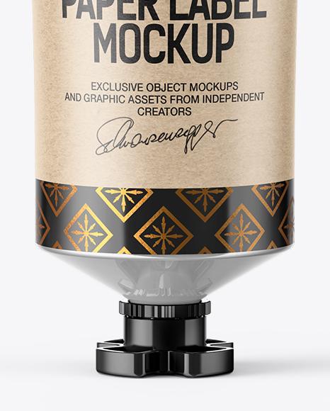 Glossy Sauce Tube Mockup