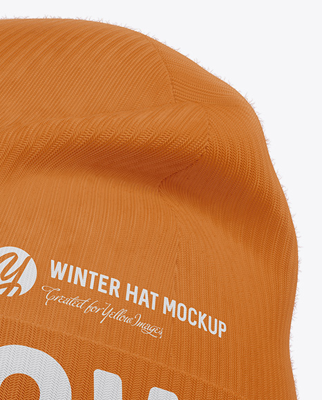Download Beanie Hat Mockup Half Side View Yellowimages