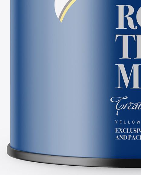 Matte Tin Box Mockup - Front View