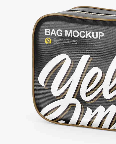 Download Leather Bag Mockup Front View High Angle Shot Yellowimages