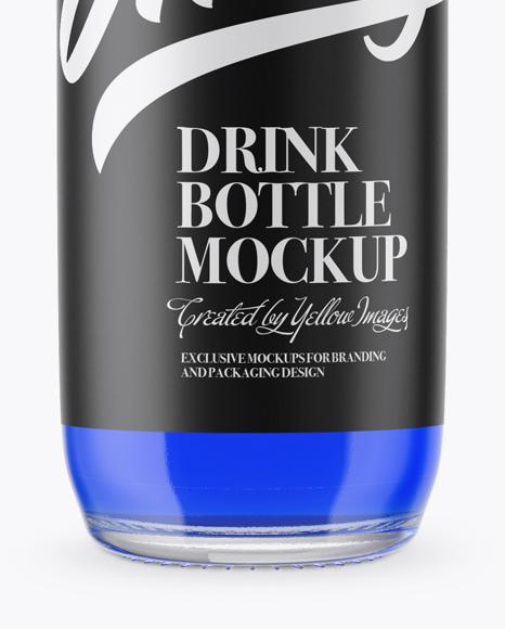 Download Clear Glass Blue Drink Bottle Mockup In Bottle Mockups On Yellow Images Object Mockups PSD Mockup Templates