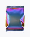Holographic Foil Snack Package Mockup