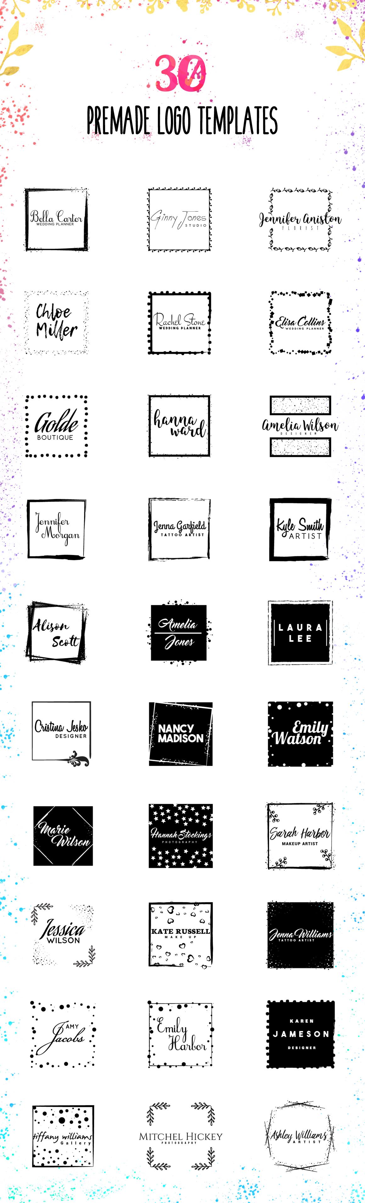 Logo Creator kit - Square Edition