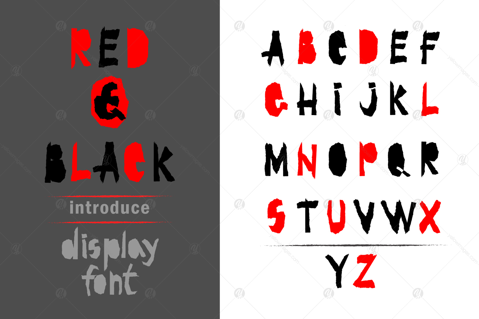 Red-and- Black OTF font.