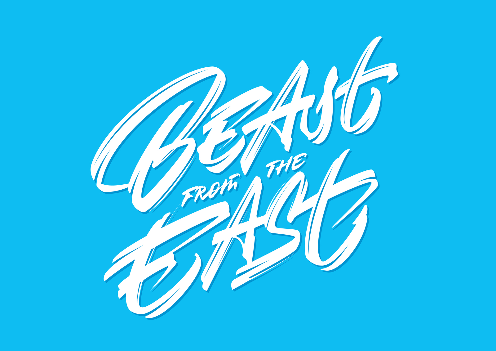 Beast from the East vector lettering