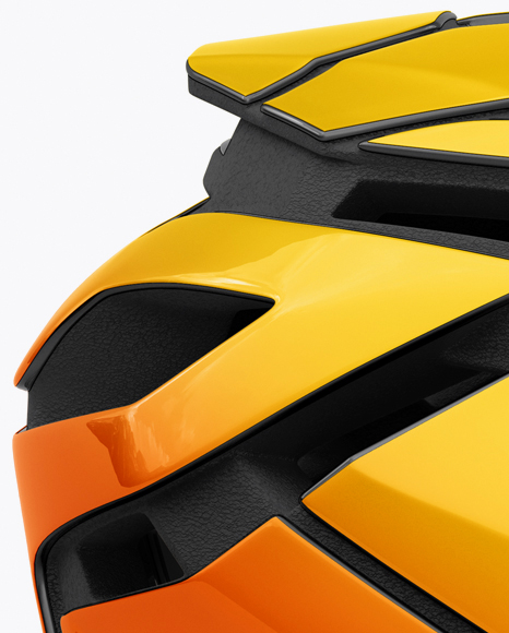 Cycling Helmet Mockup - Side View