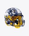 American Football Helmet Mockup - Halfside View