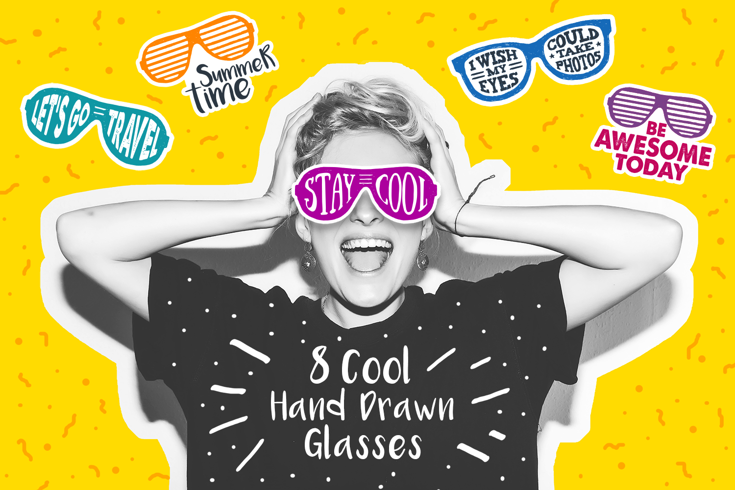 Stay Cool! 8 Hand Drawn Stickers